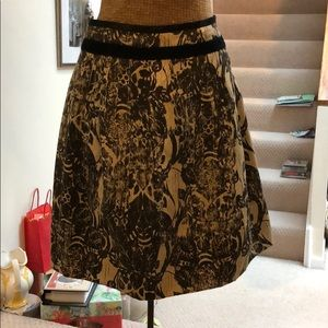 Brown and tan skirt